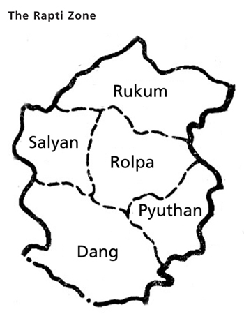 The Rapti Zone map